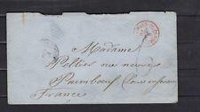 LETTRE COLONIES FRANCE 1870 PAQUEBOT POINTE A PITRE PAIMBOEUF
