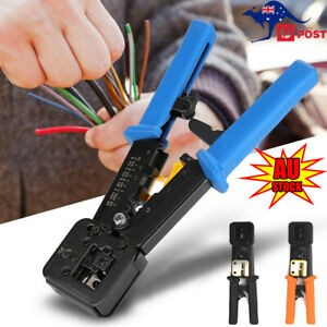 Multifunction RJ45 Crimper Tool Ethernet Crimping EZ End Pass Through RJ11/12 AU