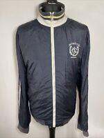 Nautica Jeans MCMXCIX Navy Blue Men's Zip Jacket Windbreaker Coat XXL