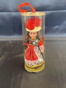 VINTAGE Schwarzwald Puppe Schlafaugen Puppe kleine Püppchen mit Tracht #1316