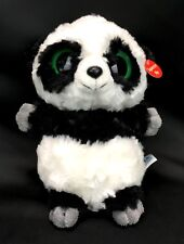YooHoo Friends Panda Bear Ring Ring Black White Plush Green Eyes Giggles