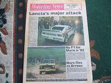 Motoring News 17 December 1981 Tony Brooks XR2 BTRDA & RAC National Rally Review