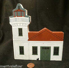 Wood Lighthouse Model Mukilteo Light Washington Wa Folk Art hand painted signed
