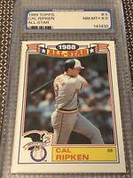 1989 ~ Cal Ripken Jr. #5 of 22 / Topps Card - PGS Graded ~ NM-MT+ 8.5
