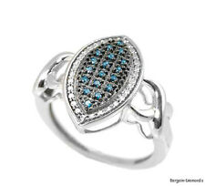 blue diamond marquise ring right-hand love promise urban fashion boho
