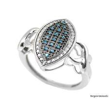 love promise urban fashion boho blue diamond marquise ring right-hand