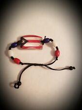 Puerto Rico Flag Beaded Bracelet Unisex Adjustable Mens Womens Handmade Pull