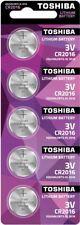 5x TOSHIBA CR2016 3V Lithium Coin Cell Battery 2016 button DL2016. 0197