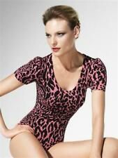 LUXUS PUR: WOLFORD String Body CHEETAH (78227), L, sugar coral-black,NEU+Etikett