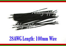 28AWG 1.15mm Diameter Black Color Wire bare wire end to end Wire 100mm x 30 pcs
