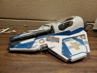 2004 hasbro Star Wars Starfighter Ship lfl near complete blue jedi star wars
