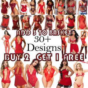 Women Sexy Lingerie Bra Underwear Bodysuit Babydoll Nightwear Dress Sleepwear