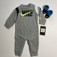 Nike Bebé Manga Larga Mono Mameluco de una pieza Traje & Botines 6M