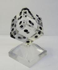 mid century design 60s Kultiges gr. Acryl Glas Plexiglas Würfel Sculptur