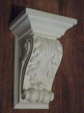 Pair of Plaster Corbels, ACANTHUS LEAF PLASTER, Scroll, Shelf, Rococo Style,