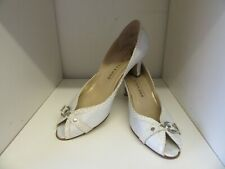 PETER KAISER STONE LEATHER PEEP TOE BUCKLE COURT SHOES SIZE 7.5