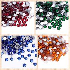 Cristales de Swarovski color no HOT FIX rhinestones Decoración Nail Art Todas Las Tallas