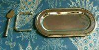 French 1930's Art Deco Swan Serving tray-Complete-Unusual design