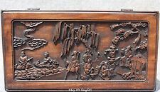 Old Chinese Wood 8 eiget Immortal casket JEWEL CASE jewellery box jewelry boxes