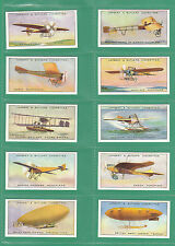 AEROPLANES  -  100 SETS OF 25 LAMBERT  &  BUTLER ' AVIATION ' CARDS  -  REPRINTS