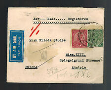 1934 Calcutta India Cover to Austria Airmail