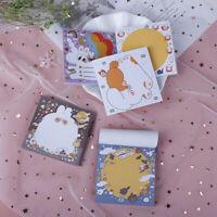 80 Sheets Kawaii Bread Rabbit Memo Pad School Planner DIY Notepad Paper Notes u1