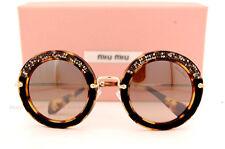 Nuevo Miu Miu Gafas de Sol Mu 08R 08RS 7S04P0 Havana/Marrón Mujer