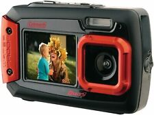 Coleman Duo2 2V9WP-R 20 MP Waterproof Digital Camera with Dual LCD Screen - Red