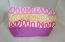 Clinique yellow and pink design wash bag/make up bag/cosmetic bag - brand new