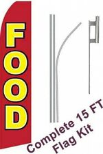 15 Ft. Food Grocery Sign Swooper Banner Bow Flag sw10746.