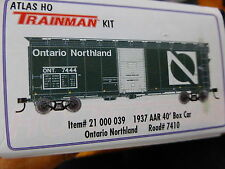 Atlas HO TM #21000039 Ontario Northland (1937 AAR 40' BoxCar Kit Form) Rd #7410