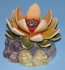 "Harmony Kingdom Garden box HG4LO ""Lotus"" ladybug Lord Byron 2000-2004 NIB"