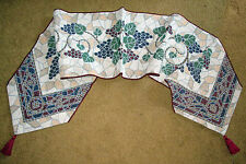 Mosaic Grapes Tapestry Table Runnner