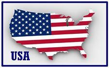 USA MAP & FLAG - SOUVENIR  FRIDGE MAGNET -  BRAND NEW - GIFT