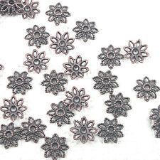 90pcs antiqued copper color hollow leaf design bead caps  H1631-1