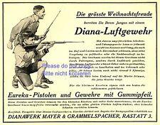 Diana rifle de aire Eureka pistola publicitarias 1926 Mayer grammelspacher Rastatt ad +