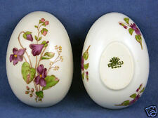 Vintage Limoges New Violet Large Egg Trinket Box