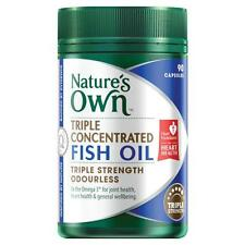 Natures Own TRIPLE CONCENTRATED FISH OIL ODOURLESS 90 capsules triple strength