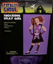 Totally Ghoul Shocking Xray Girl Dress Halloween Costume Size Medium Nwt