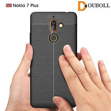 For NOKIA 2 3 5 6 7+ 8 9 Shockproof Lichee Leather Pattern TPU Soft Case Cover