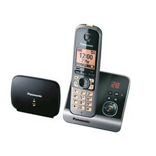 Panasonic KX-TG6761GB Schnurlostelefon inkl. Repeater, strahlungsarm, schwarz