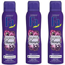 3x 150ml Fa Déodorant Spray Aluminiumfrei Luxueux Moments 48h Frais Alto