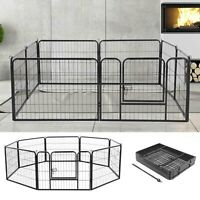 8 Panel Foldable Pet Play Pen Puppy Dog Animal Cage Run Fence Exercise Playpen