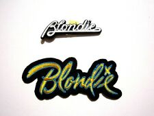 Blondie - Lot Vintage Pin and script Patch - button badge
