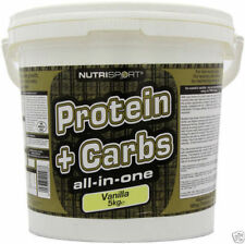 NUTRISPORT PROTEIN AND CARBS - ALL IN ONE - 5KG BANANA WHEY CREATINE BCAA