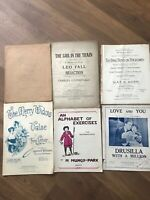 Vintage Music Scores Sheet Music X 6 For Piano And Organ