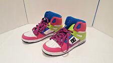 DC Rebound Hi' Women's 9 High Top Skateboard Shoes Neon Multi Color Sneakers