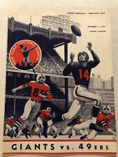 1957 NEW YORK GIANTS San Francisco 49ers Program FRANK GIFFORD Vince LOMBARDI
