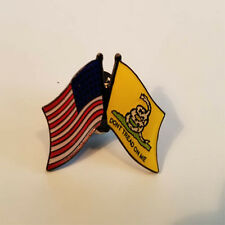 American Usa Flag Gadsden Don't Tread on Me Lapel Hat Pin Fast Usa Shipping