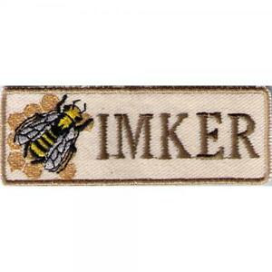 AUFNÄHER - Biene Bee Imker - 02976 - Gr. ca. 10 cm x 3,5 cm - Patches Stick  ...